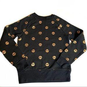 5/$25 Girls Sz 6-6X Black Gold Emoji Sweatshirt